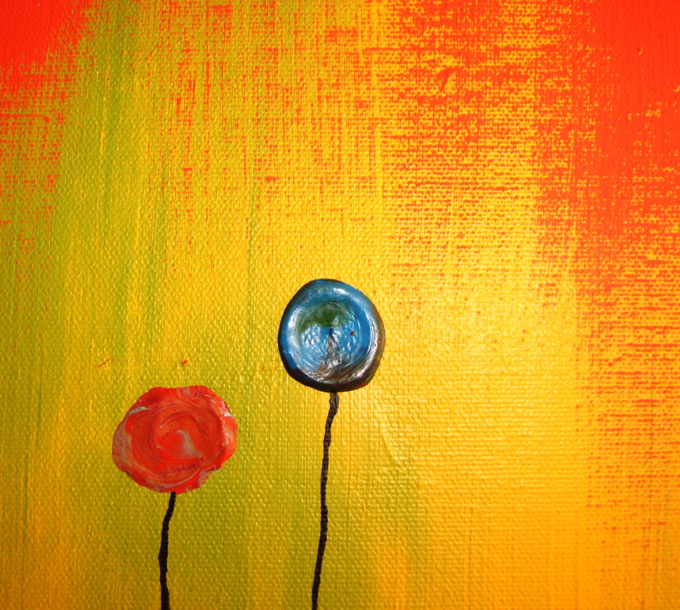 Chrissy Costanza Iphone Wallpaper Poppy Field Abstract Art Zachary Brown Art Wallsev Com