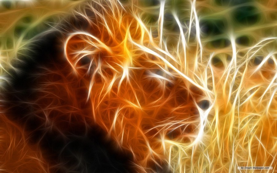 Free Art 3D Lion King Animal Wallpaper Background