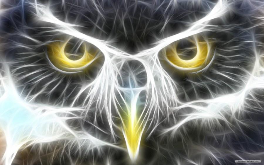 Free Art Wallpaper 3D Eyes Animal Wallpaper