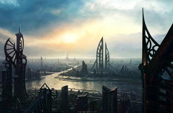 Future Cityscape Photo Picture City 3D Wallpapers