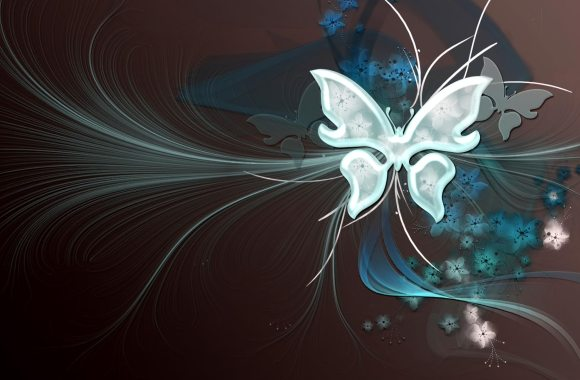Vector Background Butterfly Art Desktop Fresh Floral Wallpaper