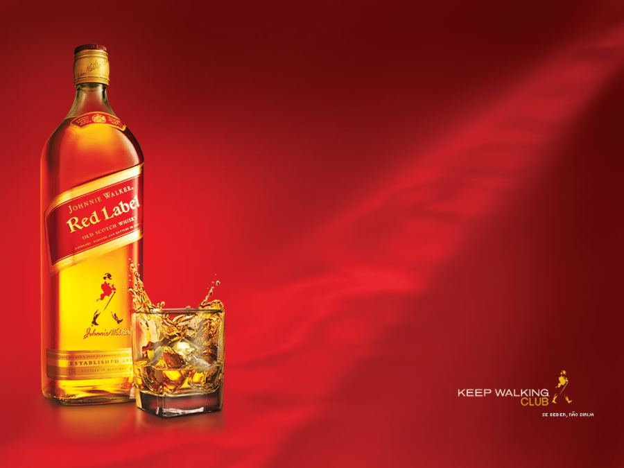 Red Label Alcohol Drink Graphic HD Wallpaper Picture Photo