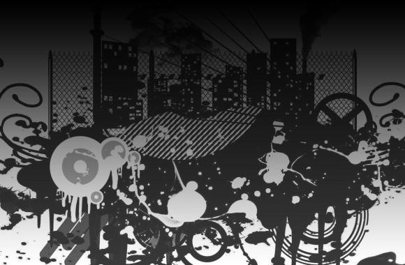 Black And White Art Background Design Wallpaper