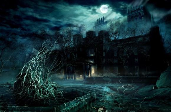 Awesome Home Dark Horror Game Scene HD Wallpaper