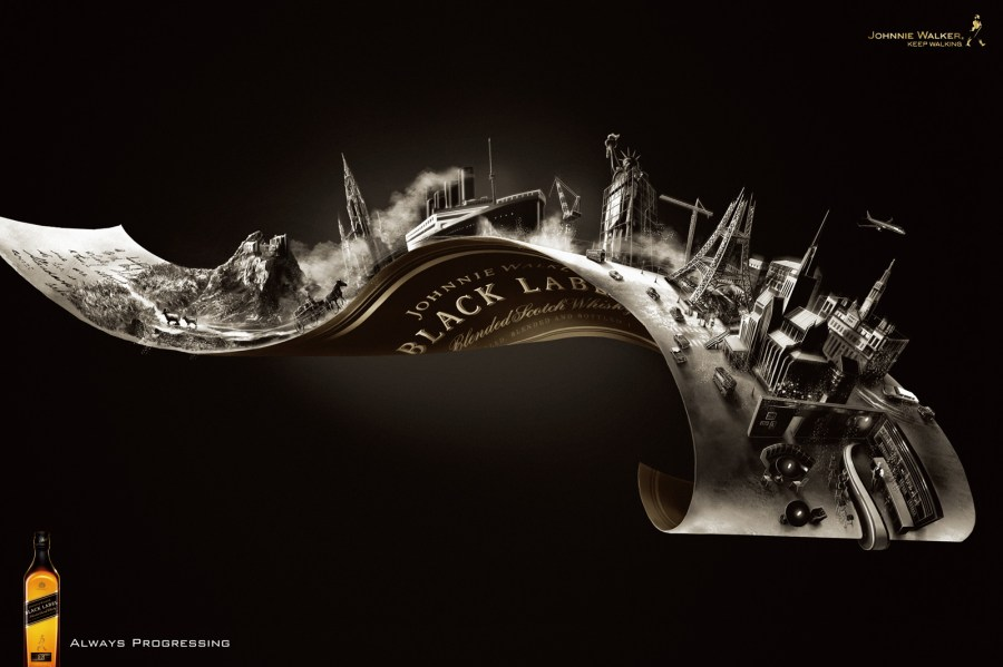 Awesome Johnnie Walker Black Label Whisky Brand HD Wallpaper