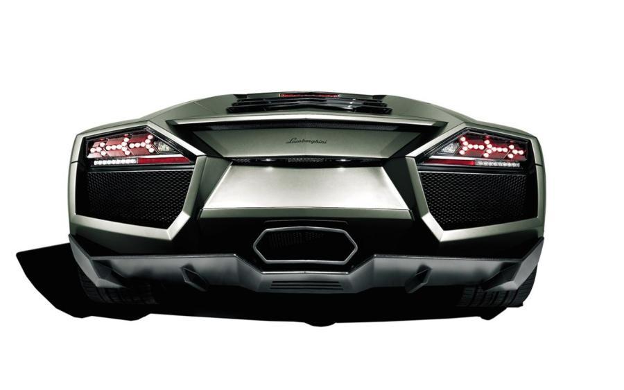 Black Lamborghini Reventon Looks Back HD Wallpapers Image