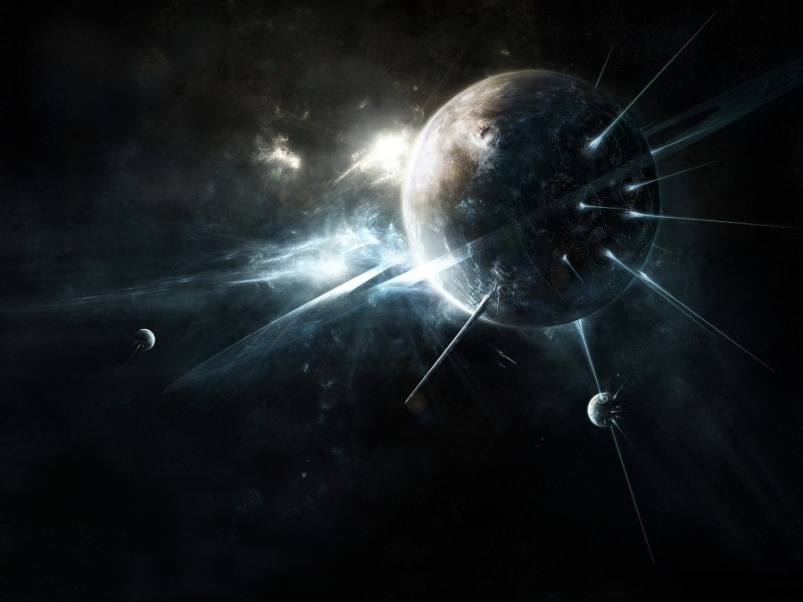 Dark Moon Space Abstract Wallpapers HD Widescreen
