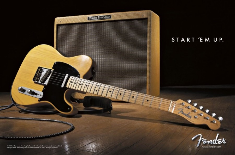 Fender Telecaster And Amplifier High Definition Wallpaper Picture Photo