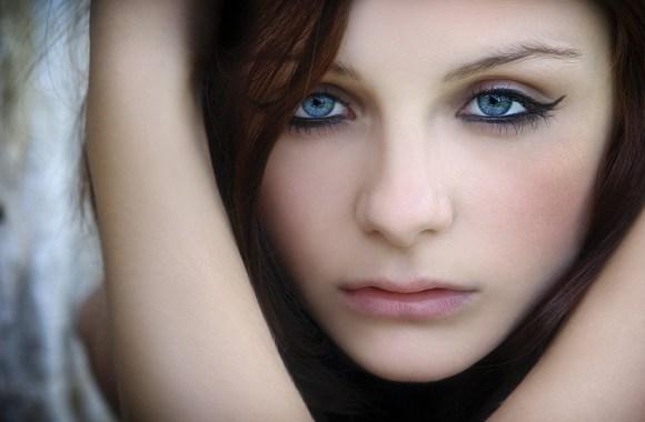 Beautiful Girl Blue Eye Portrait Photography HD Wallpaper Picture