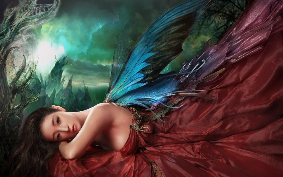 Awesome Angel With Colorful Wings HD Wallpaper And Picture Sharing