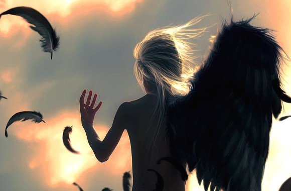 Beautiful Angel Broken Wing Wallpaper HD Widescreen For Your PC Desktop