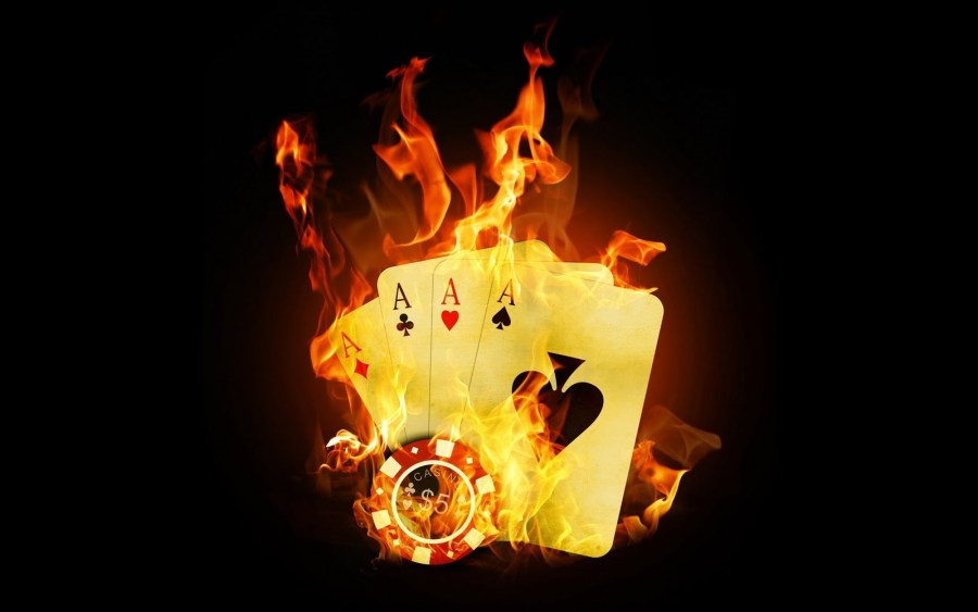 Dark Black Fire Playing Cards Ace HD Wallpapers Picture For PC Desktop
