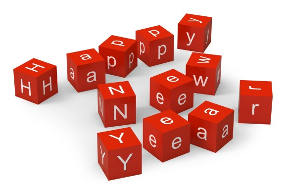 Beautiful Happy New Year Red Dice Picture HD Wallpaper Background