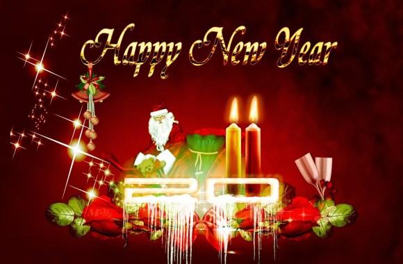 Beautiful Happy New Year 2014 HD Wallpaper Widescreen For PC Desktop