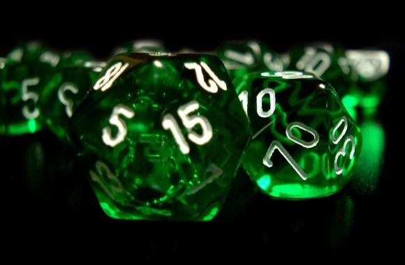 White Number Green Dice HD Wallpaper Picture Image Desktop