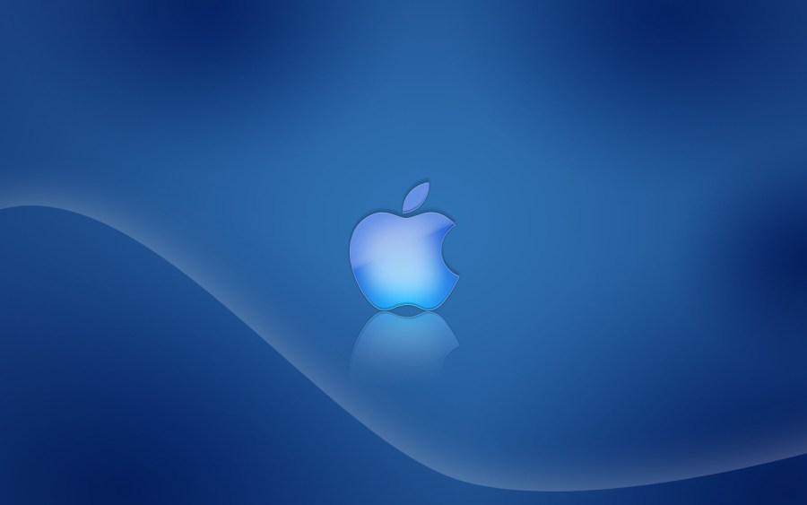 Blue Logo Apple With Blue Background HD Wallpaper For Your Mac Desktopcom
