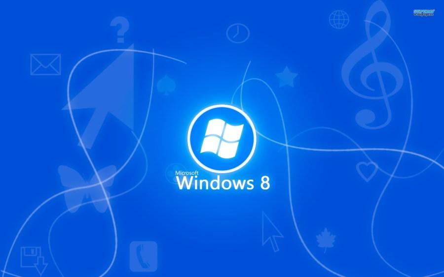 Blue Windows 8 HD Wallpaper Image Background For PC Desktop