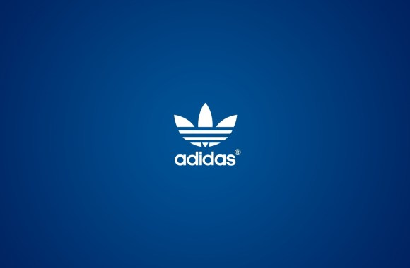 Simple Design Adidas White Logo And Blue Background HD Wallpaper