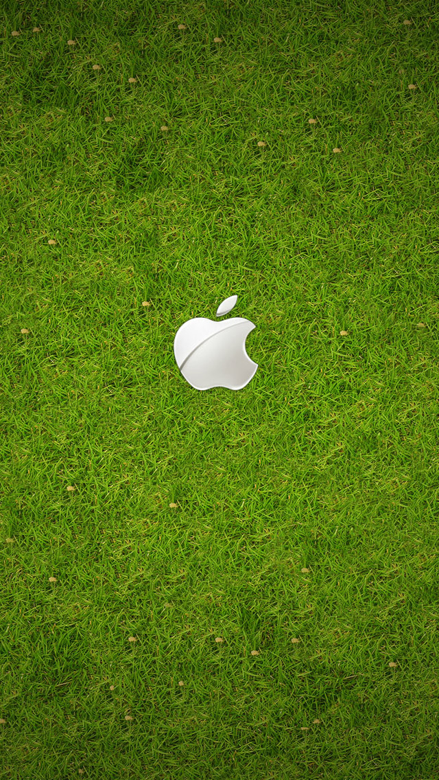 iPhone Logo With Green Background HD Wallpaper Image