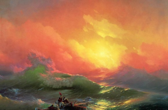 Amazing Sunset Fine Art Painting HD Wallpaper Picture Image