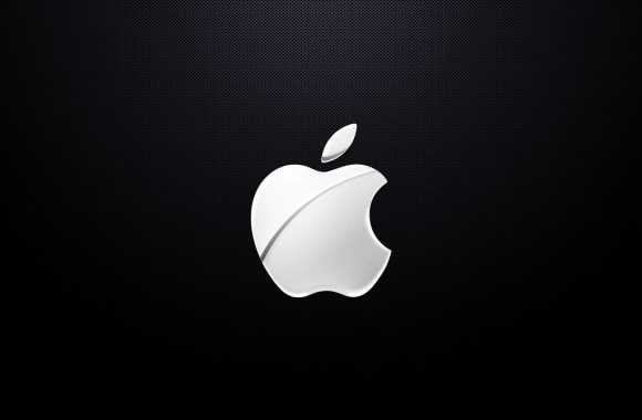 Black And White Apple Logo Wallpaper HD Widescreen Background For Mac