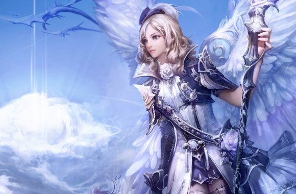 Beautiful Angel In Heaven 3D Wallpapers For Your PC Computer