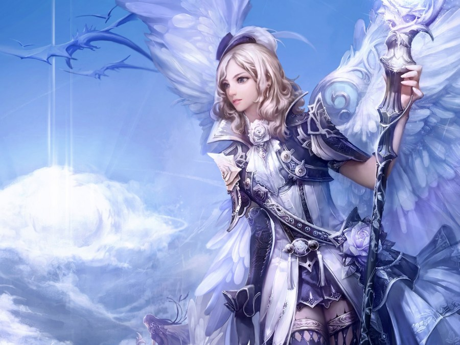 Beautiful Angel In Heaven 3D IN HD Wallpapers For Your PC Computer