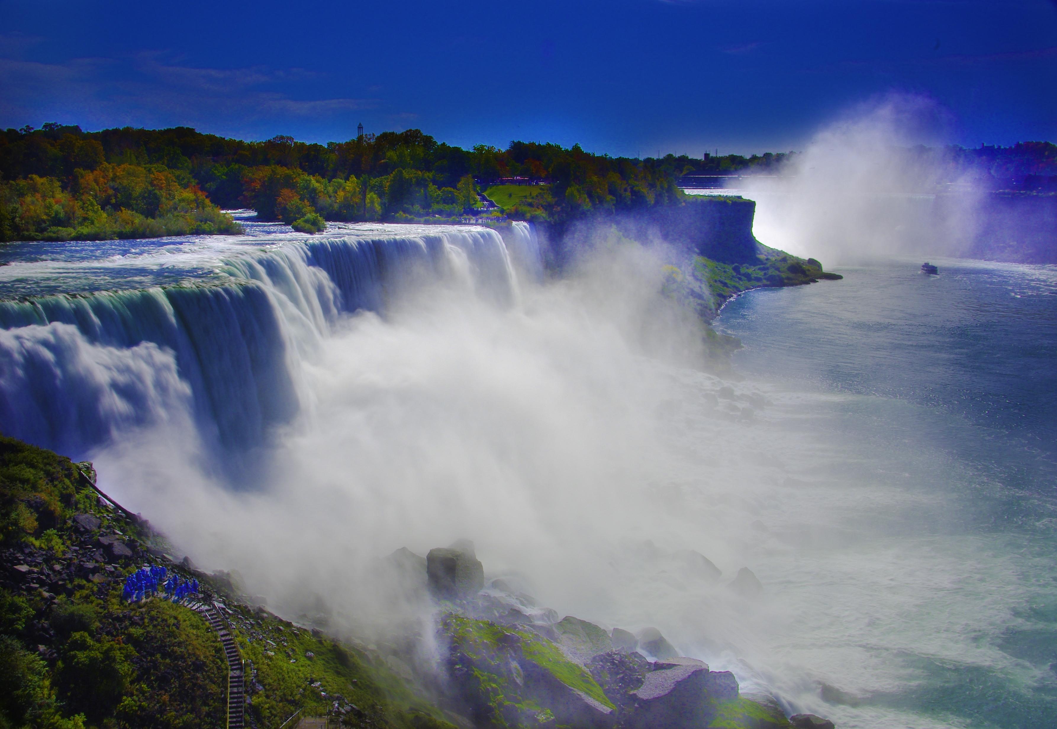 Beautiful Niagara Falls Wallpaper Awesome Niagara Falls And Blue Sky Picture High Definition