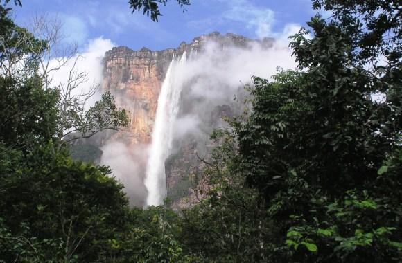 Beautiful Place To Visit Angel Waterfall Venezuela HD Wallpaper Photo