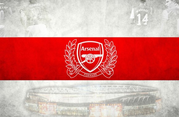 Arsenal 125 Years Annieversary Logo Background High Definition Wallpaper