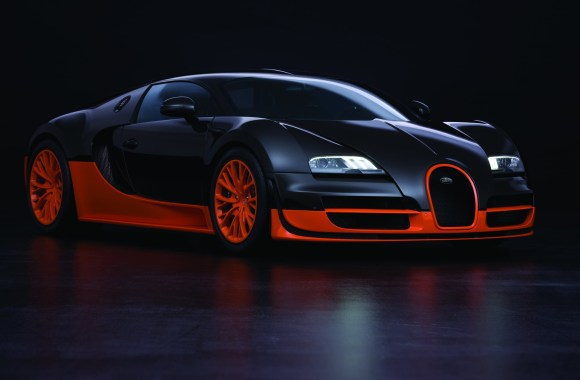 Black Orange Bugatti Veyron 16 4 Super Sport HD Wallpaper Picture