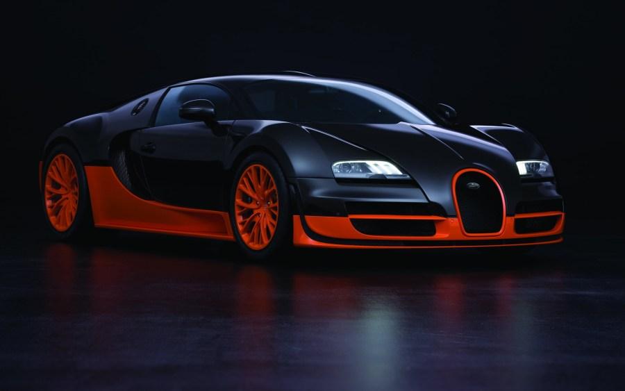 Black Orange Bugatti Veyron 16 4 Super Sport HD Wallpaper Picture