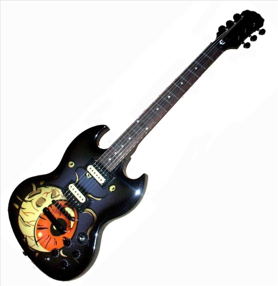 Amazing Planet On Gibson SG Guitar Music HD Wallpaper Free Download