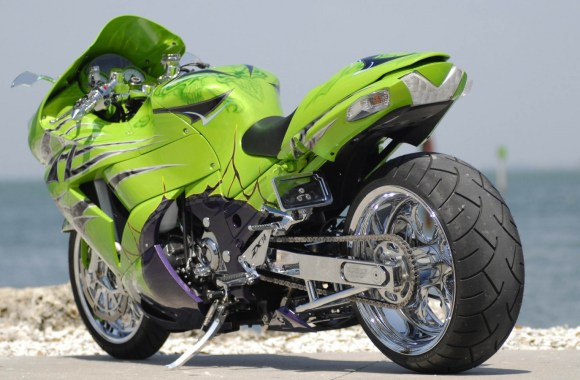 Amazing Kawasaki ZX14R Custom Photo Picture Free Download