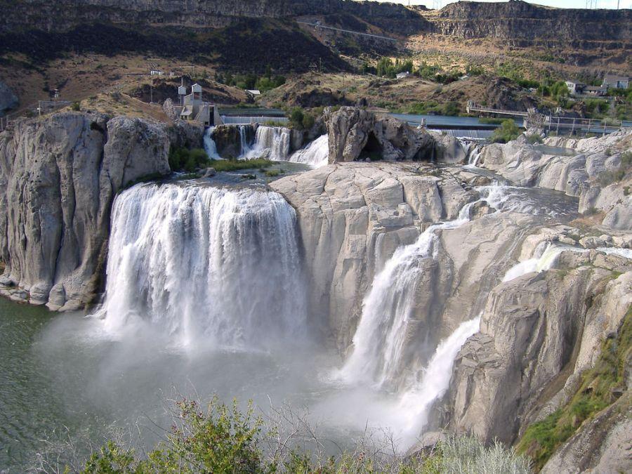 Shoshone Waterfall Picture HD Wallpaper Widescreen For PC Desktop