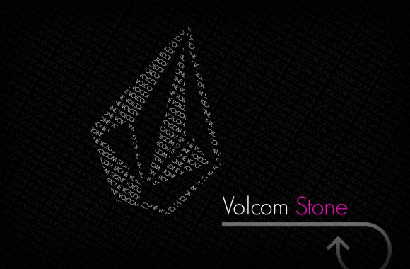 Grey Volcom Stone Logo Black Background HD Wallpaper For PC Desktop