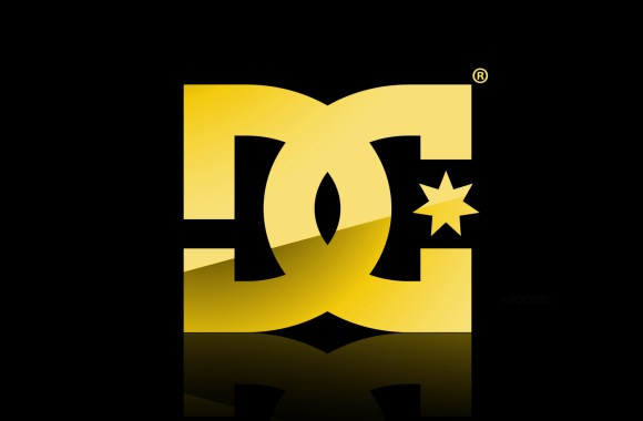 Gold DC Shoes Logo And Black Background HD Wallpaper Widescreen