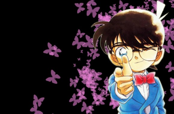 Detective Conan Purple Butterfly HD Wallpaper Background