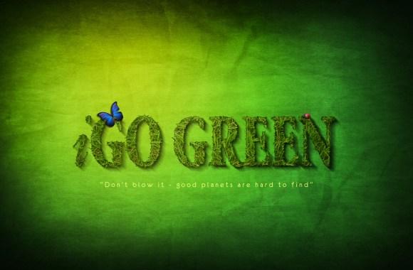 I Go Green Global Warnig HD Wallpaper Widescreen Dekstop Picture