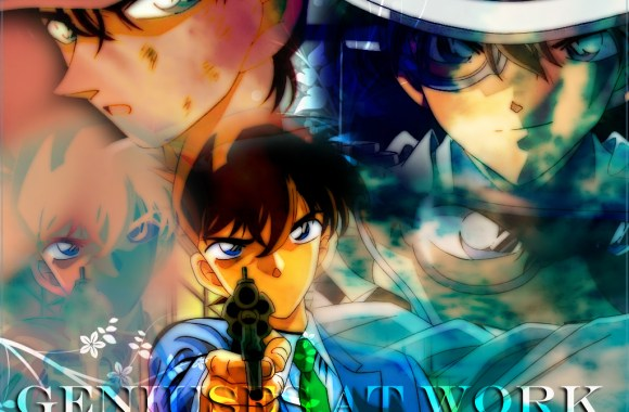 Kaito Heiji And Shinichi Kudo Anime Manga HD Wallpaper Picture