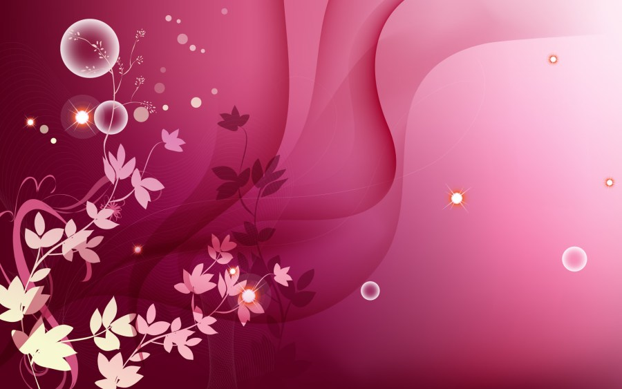 pink Flowers And Bubble HD Wallpaper Widescreen For PC Desktop