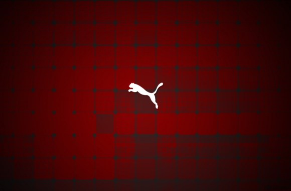 White Puma Logo Red Background HD Wallpaper Image For Your PC Desktop