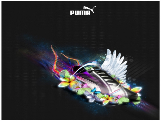 Amazing Puma Shoes With Butterfly Image HD Wallpapers Picture