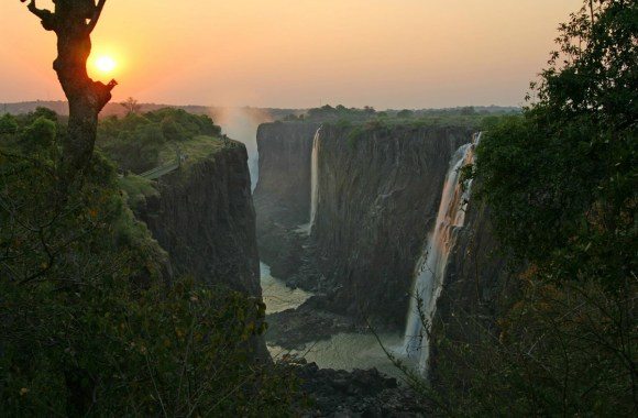 Beautiful Sunset In Victoria Falls Picture Photo HD Wallpaper