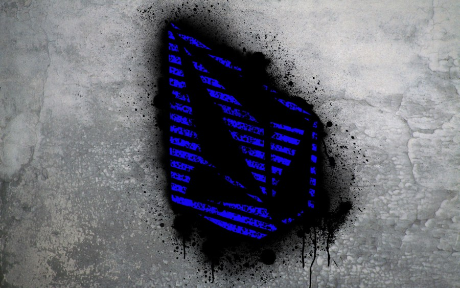 Blue Volcom Stone Graffiti Fresh New HD Wallpaper Picture Background