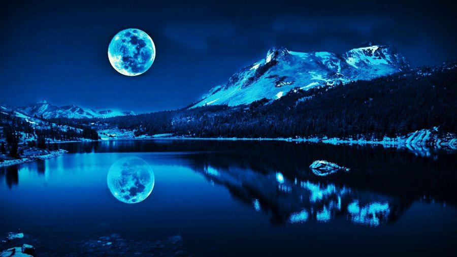Super Moon Blue Wallpaper