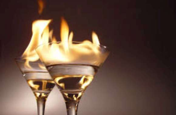 Flaming Cocktail HD Wallpaper