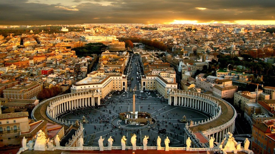 St. Peters Square Vatican city