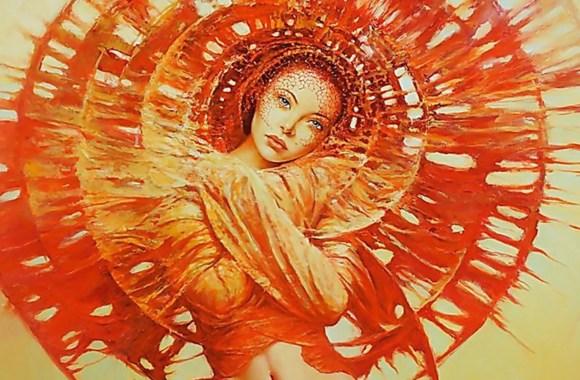Lady in Orange HD Wallpaper