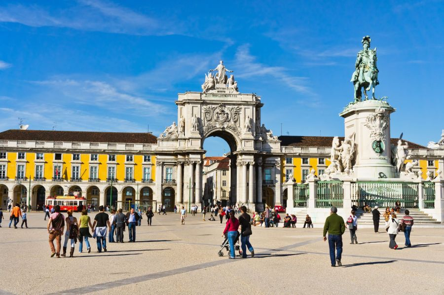 Commerce Square in Lisbon Portugal